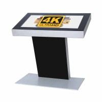 Digital Signage Digitales Kiosk - Querformat einseitiger 43 Zoll-Bildschirm - schwarz - 4K UHD incl. Samsung-LED Display für den 24/7-Einsatz - Digitales Kiosk 43 zoll 4K
