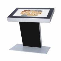 Digital Signage Digitales Kiosk - Querformat einseitiger 49 Zoll-Bildschirm - schwarz incl. Samsung-LED Display für den 24/7-Einsatz - Digitales Kiosk
