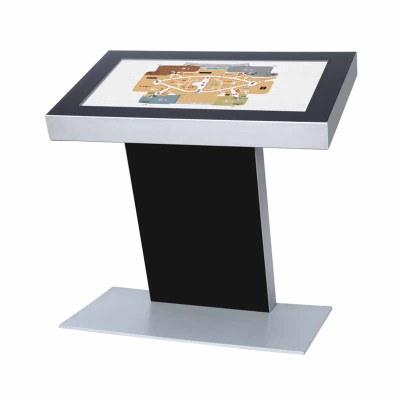 Digitales Kiosk - Querformat einseitiger 49 Zoll-Bildschirm - schwarz incl. Samsung-LED Display für den 24/7-Einsatz - Digitales Kiosk