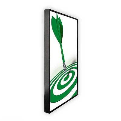 Digitales Poster TrendLine (Deckenmontage) einseitiger 43 Zoll-Bildschirm - schwarz inkl. Deckenmontageset - digitales-poster-trendline-seite