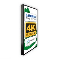 Digital Signage Digitales Poster TrendLine einseitiger 43 Zoll-Bildschirm - schwarz - 4K UHD zur Wandmontage - inkl. Wandmontageset - Digitales Poster Wand swz 4K