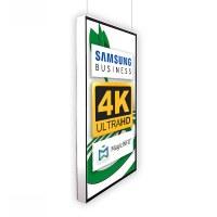 Digital Signage Digitales Poster TrendLine einseitiger 43 Zoll-Bildschirm - weiss - 4K UHD zur Deckenmontage - inkl. Deckenmontageset - Digitales Poster Decke ws 4K