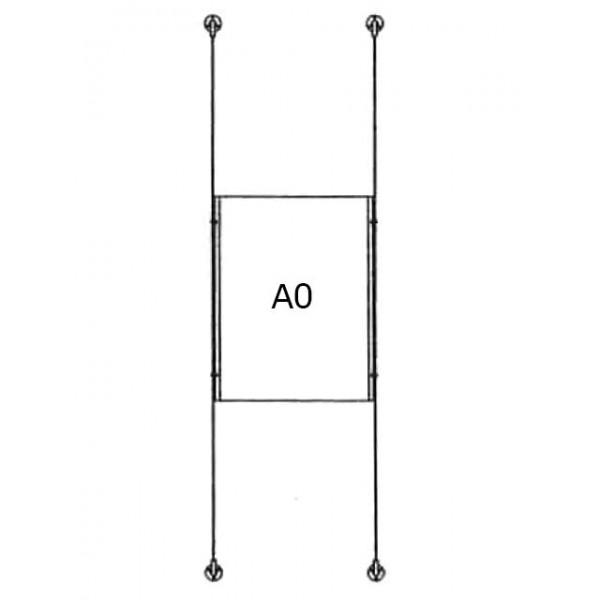 da-d-1xa0 - drahtseilsystem 1x din a0 hochformat 1