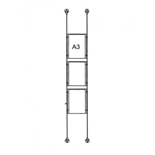 da-bd-3xa3 - drahtseilsystem 3x din a3 hochformat 1 1