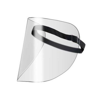 Gesichtsschutz aus glasklarem Material Preis gilt für 5er Karton (Schutzfolie abziehen!) (PET G in der Materialstärke 0,5 mm) - gesichtsschutz-visier-frei