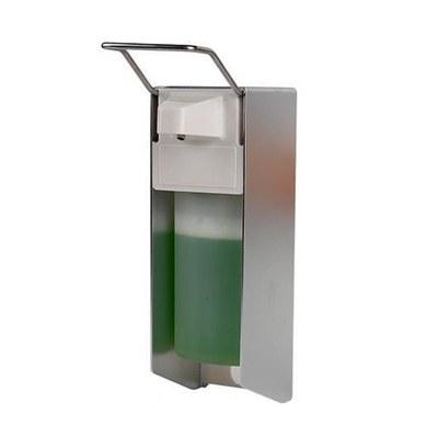Hand-Desinfektionsmittelspender mit Ellbogenhebel aus Edelstahl Aluminiumgehäuse zur Wandmontage - Desinfektionsspender Ellbogen Frontal