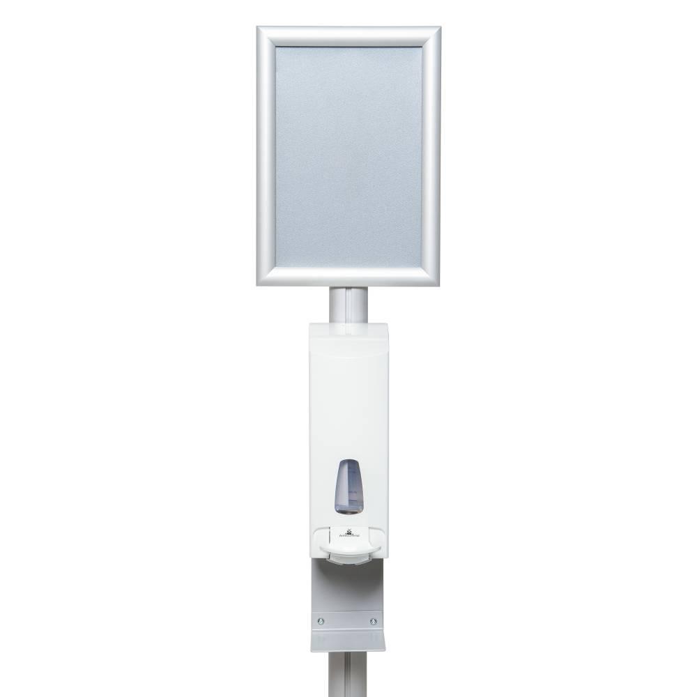 Desinfektionsständer CLASSIK mit Armhebelspender Detail.jpg