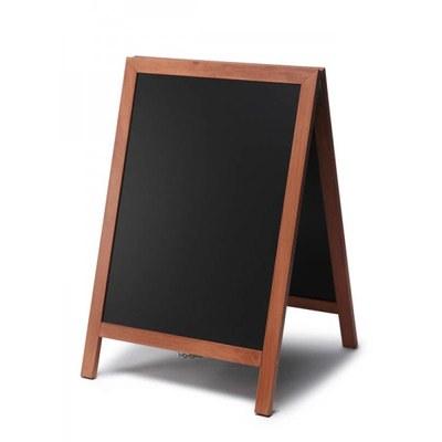 Holz-Aufsteller (geschlossener Rahmen) Format: 55x85cm 55x85 cm - Holz-Aufsteller-hellbraun