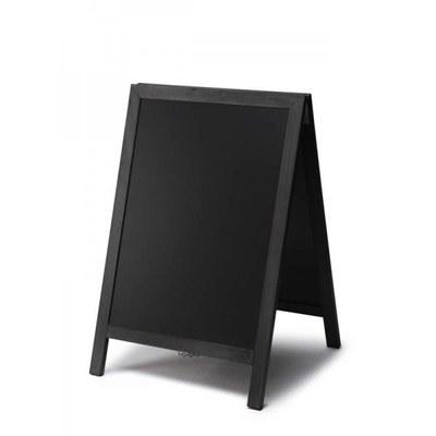 Holz-Aufsteller (geschlossener Rahmen) Format: 55x85cm 55x85 cm - Holz-Aufsteller-schwarz