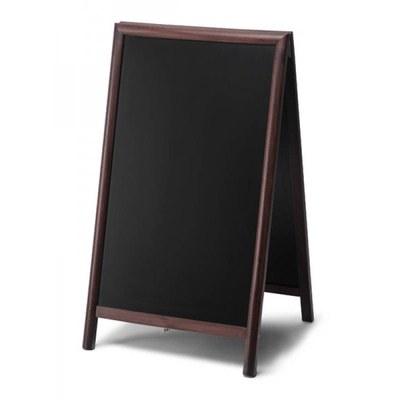 Holz-Aufsteller (geschlossener Rahmen) Format: 68x120cm 68x120 cm - Holz-Aufsteller-dunkelbraun-lang