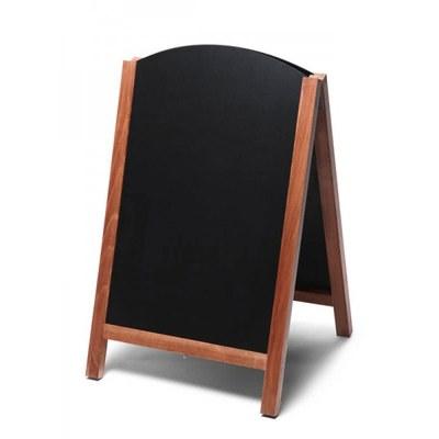 Holz-Aufsteller (oben offener Rahmen) Format: 55x85cm 55x85 cm - Holz-Aufsteller-Fast-Switch-hellbraun