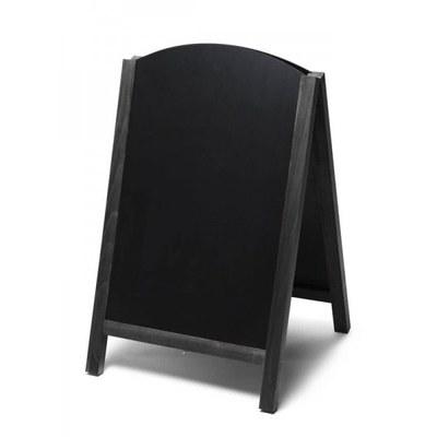 Holz-Aufsteller (oben offener Rahmen) Format: 55x85cm 55x85 cm - Holz-Aufsteller-Fast-Switch-schwarz