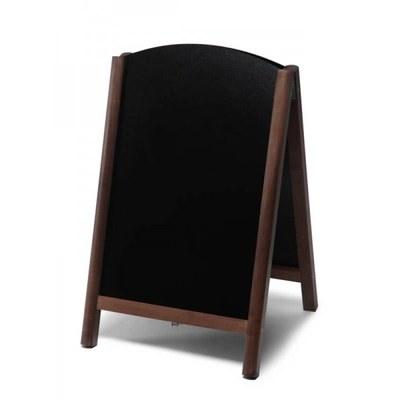 Holz-Aufsteller (oben offener Rahmen) Format: 55x85cm 55x85 cm - Holz-Aufsteller-Fast-Switch-dunkelbraun