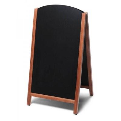 Holz-Aufsteller (oben offener Rahmen) Format: 68x120cm 68x120 cm - Holz-Aufsteller-Fast-Switch-hellbraun-lang