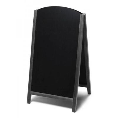 Holz-Aufsteller (oben offener Rahmen) Format: 68x120cm 68x120 cm - Holz-Aufsteller-Fast-Switch-schwarz-lang