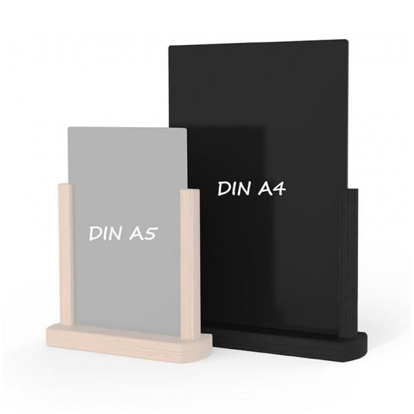 Holz-Tischaufsteller-DINA4-schwarz