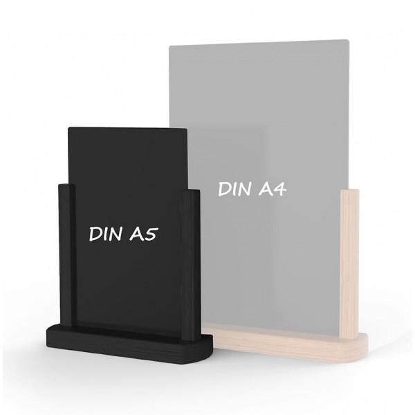 Holz-Tischaufsteller-DINA5-schwarz