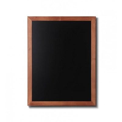 Holz-Wand-Kreidetafel (Profil: eckig) Format: 600x800mm Farbe des Holzrahmens: hellbraun - Holz-Wand-Kreidetafel-eckiges-Profil-600x800-hellbraun