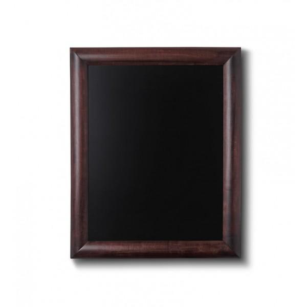 Holz-Wand-Kreidetafel-rundes-Profil-300x400-dunkelbraun
