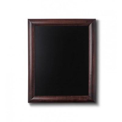 Holz-Wand-Kreidetafel (Profil: rund) Format: 300x400mm Farbe des Holzrahmens: dunkelbraun - Holz-Wand-Kreidetafel-rundes-Profil-300x400-dunkelbraun