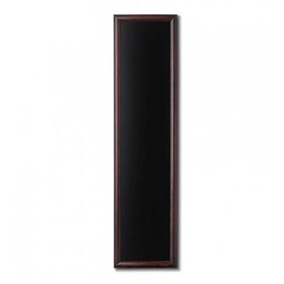 Holz-Wand-Kreidetafel (Profil: rund) Format: 350x1.500mm Farbe des Holzrahmens: dunkelbraun - Holz-Wand-Kreidetafel-rundes-Profil-350x1500-dunkelbraun