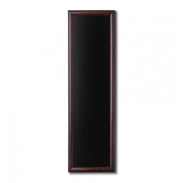 Holz-Wand-Kreidetafel-rundes-Profil-400x1200-dunkelbraun