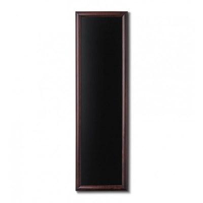Holz-Wand-Kreidetafel (Profil: rund) Format: 400x1.200mm Farbe des Holzrahmens: dunkelbraun - Holz-Wand-Kreidetafel-rundes-Profil-400x1200-dunkelbraun