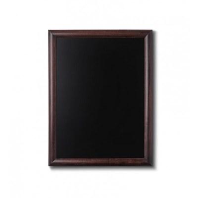 Holz-Wand-Kreidetafel (Profil: rund) Format: 500x600mm Farbe des Holzrahmens: dunkelbraun - Holz-Wand-Kreidetafel-rundes-Profil-500x600-dunkelbraun