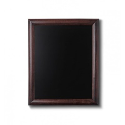 Holz-Wand-Kreidetafel (Profil: rund) Formt: 400x500mm Farbe des Holzrahmens: dunkelbraun - Holz-Wand-Kreidetafel-rundes-Profil-400x500-dunkelbraun