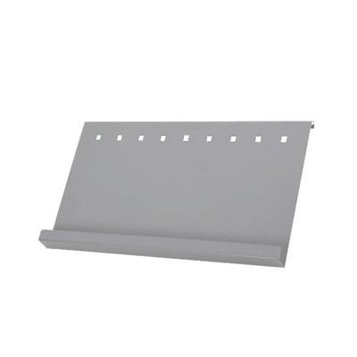 Prospektablage - ELLIPSE Kombi A2 zur einseitigen Anbringung (1 Stück) Material: Aluminiumblech - infost nder-mono-detail-ablage-a2