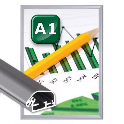 Klapprahmen Safety Einlegeformat: DIN A1 (594x841 mm) DIN A1 (594x841 mm) - Klapprahmen-safety DIN A1 32erProfil