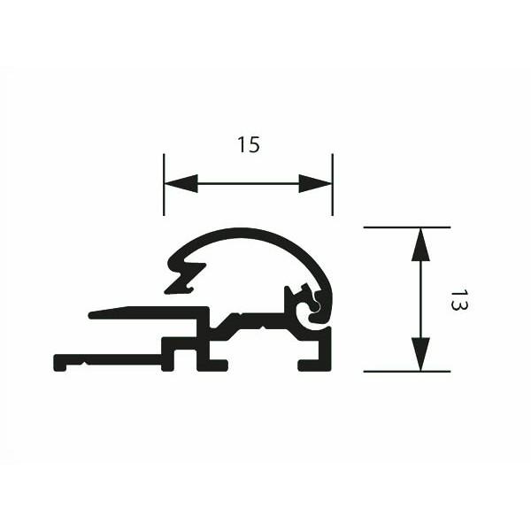 klapprahmen 15erprofil detail zeichnung 2