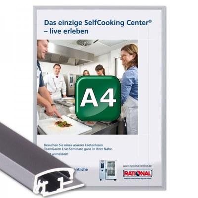 Klapprahmen Standard Einlegeformat: DIN A4 (210x297 mm) DIN A4 (210x297 mm) - Klapprahmen A4 20mm Gehrung