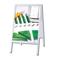 Kundenstopper OUTDOOR Einlegeformat: DIN A0 (841x1.189 mm) Profil: 32mm Gehrung - Kundenstopper-Outdoor-Gehrung Neutral