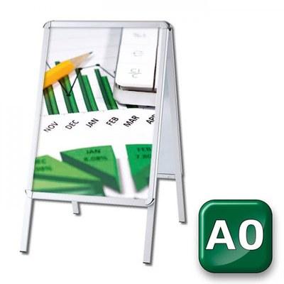 Kundenstopper OUTDOOR Einlegeformat: DIN A0 (841x1.189 mm) Profil: 32mm Rondo - Kundenstopper-Outdoor-DIN-A0-Rondo