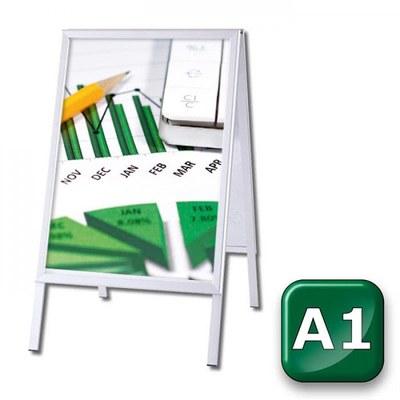Kundenstopper OUTDOOR Einlegeformat: DIN A1 (594x841 mm) Profil: 32mm Gehrung - kundenstopper-outdoor-din-a1-gehrung