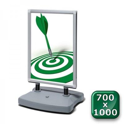 Kundenstopper Swing-Master ECO Einlegeformat: 700x1.000 mm 700x1000 mm - swing master eco v20017 silber 700x1000