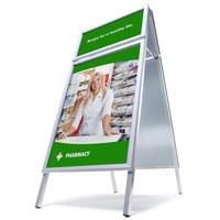 Kundenstopper TOPRAHMEN Einlegeformat: DIN A1 (594x841 mm) Einlegeformat Toprahmen: 594x297 mm - Kundenstopper  TOPRAHMEN Gehrung start