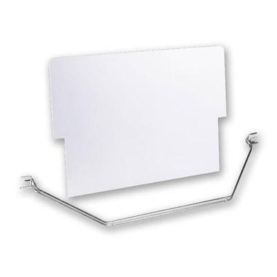 Topschild&Halterung Kundenstopper DIN A0 Topschild: weißer Kunststoff, unbedruckt DIN A0 (841x1189 mm) - standard-zubeh r-topschild-mit-halter 1