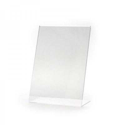 L-Aufsteller - Hochformat Einlegeformat: DIN A5 (148x210 mm) DIN A5 (148x210 mm) - Dispenser-L-Aufsteller-DIN-A5-Hochformat-PLA07H