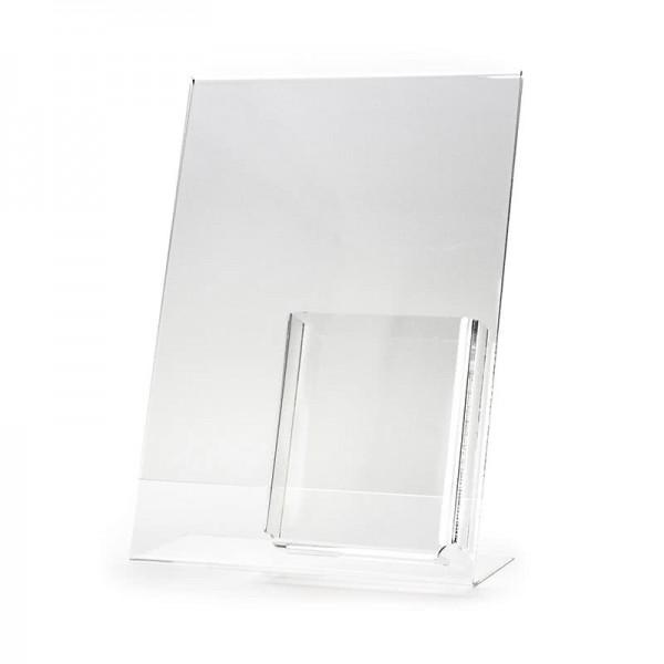 Dispenser-L-Aufsteller-DIN-A4-Hochformat-mit-Box-PLA088