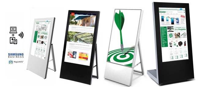 Digitale Kundenstopper
