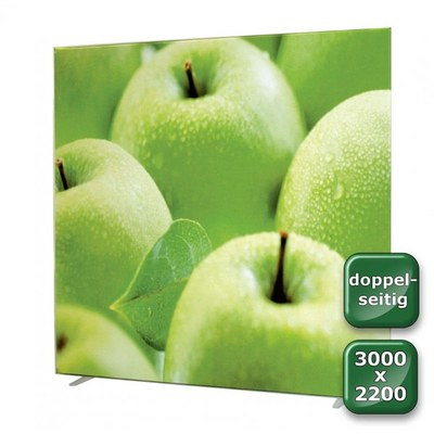 No-Frame Standdisplay Doppelseitig - Format: 3.000x2.200 mm 3.000x2.200 mm - NOFrame-doppelseitig-3000x2200