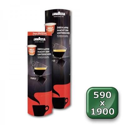 POS-Säule Pappe PREMIUM Format: 590 x 1.900 mm (faltbar) Material: 350g/m² ALASKA - faltdisplay pappe premium 590x1900