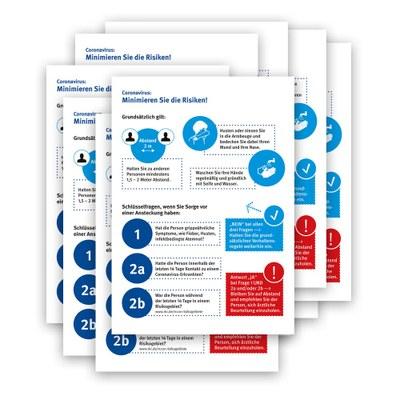 Poster-Set Hygienehinweis im Format DIN A3 - Set bestehend aus 10 Stück Material: Photopapier 135 g/m2 - Hygiene Hinweis A3