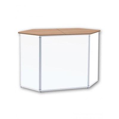 Promotiontheke ALLEGRO®-Sechsecktheke inkl. Deckelplatte (Buche) & Einlegebode None - sechseckthek-ohne-druck-buche 1