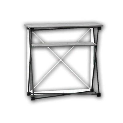 Promotiontheke Pop-Up TEXTIL mit Deckelplatte in SILBER / OHNE Druck None - PT-T-SI-o-D-PopUp-Textil 2