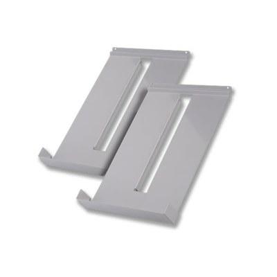 Prospektablagen - DESIGN (Set 2 Stück) Material: Aluminiumblech Farbe: RAL 9006 (silber) - prospektst nder-design-ablagen