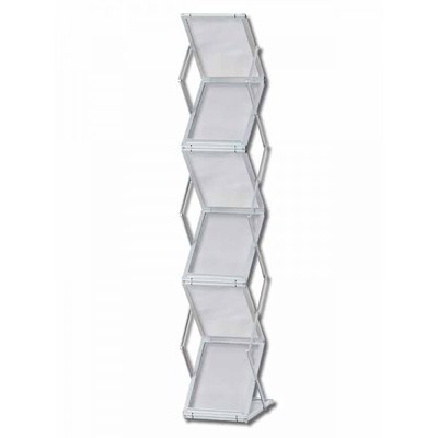 Prospektständer faltbar STANDARD Zick-Zack-Form Mit 6 Acrylablagen DIN A4 (Hochformat) - faltbar-zick-zack-1xdin-a4 1