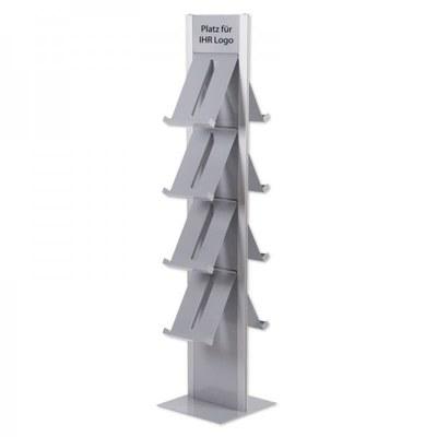 Prospektständer DESIGN Freistehender Bodenständer, doppelseitig Abmessungen: 370x1.655x417mm - Prospektst nder-Design-Standmodell-doppelseitig 1